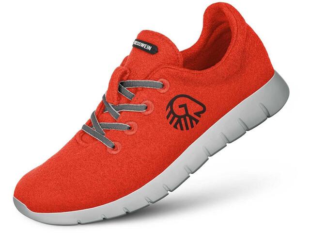 Giesswein Merino Wool Chaussures de running Femme, neon orange